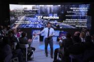 José Luis Martínez-Almeida durante la presentación de su programa. PP