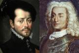 Retratos de Hernán Cortés (izda) y Blas de Lezo