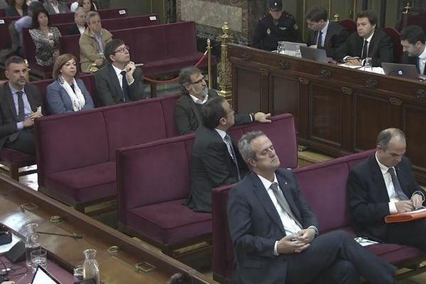 Algunos de los acusados, en la sesión celebrada este miércoles en el Tribunal Supremo.