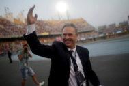 Joaquin Caparrós, antes de la Supercopa de España.