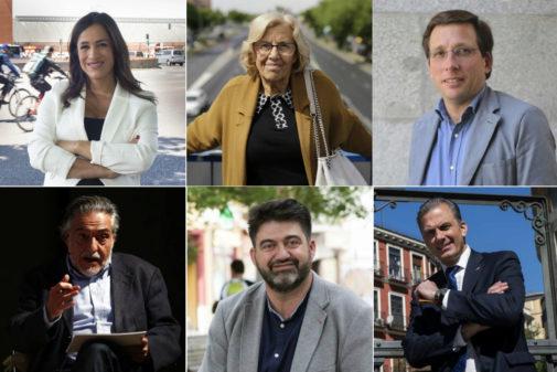 Candidatos a la alcaldía de Madrid que participan en el debate de Telemadrid