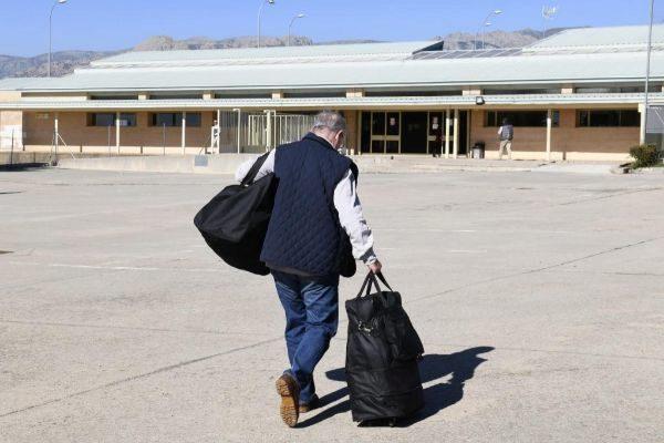 El exvicepresidente del Gobierno Rodrigo Rato a su llegada a la prisión madrileña de Soto del Real.