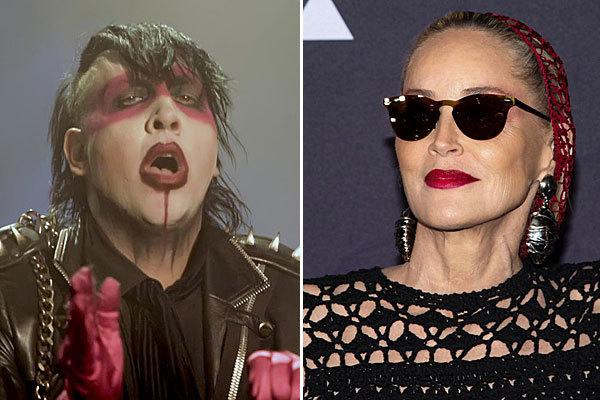 Marilyn Manson y Sharon Stone.