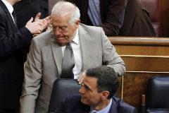 <HIT>Javi</HIT> <HIT>Martinez</HIT>. 21/5/2019. Madrid. Comunidad de Madrid. Sesion constitutiva de la XIII Legislatura en el Congreso de los Diputados. Asisten los cuatro presos preventivos del 1-O que ya estan acreditados como diputados, Oriol Junqueras de ERC, y Jordi Sanchez, Jordi Turull y Josep Rull de JxCAT. Tambien por primera vez en el Congreso estan los diputados de VOX encabezados por Santiago Abascal. Josep <HIT>Borrell</HIT>, Pedro Sanchez y Jordi Turull