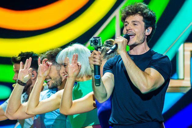 Miki Núñez con La Venda en Eurovisión 2019, canción representante de España en el festival que ha terminado perdiendo los 6 puntos de Bielorrusia