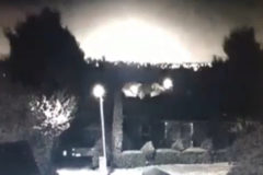 Increíble imagen de la caída de un meteorito