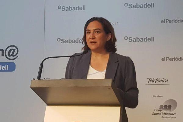La alcaldesa de Barcelona y candidata a la reelección por BComú, Ada Colau