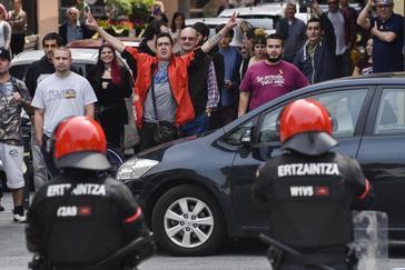 Radicales boicotean el acto de Rivera en Miraballes.