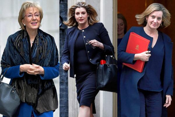 Leadsom, Mordaunt y Rudd, candidatas para suceder a la 'premier'.