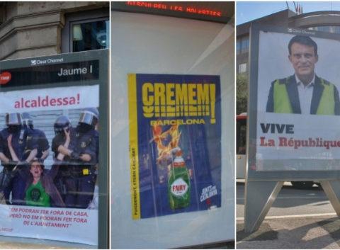 Así ha reinterpretado Autoenganys los carteles electorales de Ada...