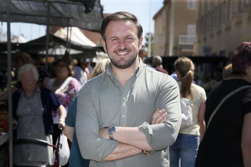Pablo Ruz, el candidato del PP de Elche, durante esta campaña.