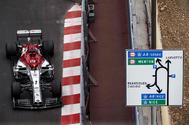 Raikkonen, durante la primera sesión libre en Mónaco.