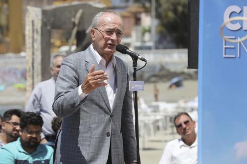 Francisco de la Torre, en un acto de campaña, en Málaga
