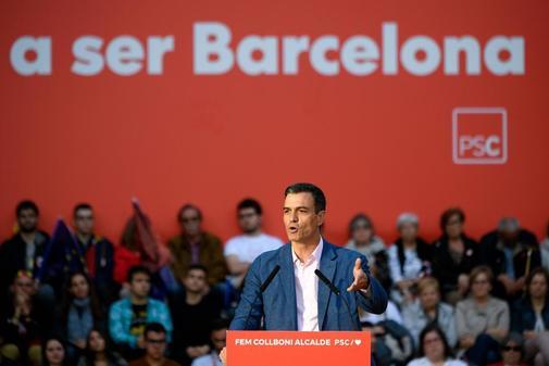 Pedro Sánchez, en un acto del PSC en Barcelona