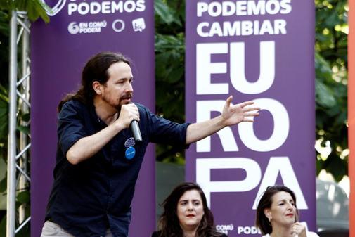 Pablo Iglesias, en un acto de Podemos en Ferrol