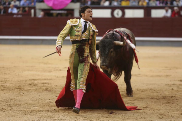 Desplante de Paco Ureña en la Corrida de la Prensa de la Feria de San Isidro del año pasado.