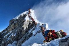 Las colas en la cima del Everest, el pasado miércoles.