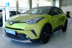 El Toyota C-HR Limitesd Edition en su característico amarillo Wasabi.