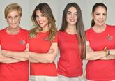 Chelo García Cortés, Lidia Santos, Violeta Mangriñán e Isabel...