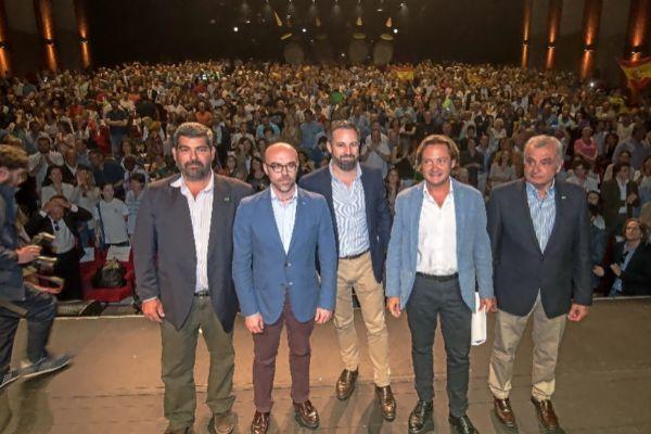 Acto electoral de Vox ayer en Palma.
