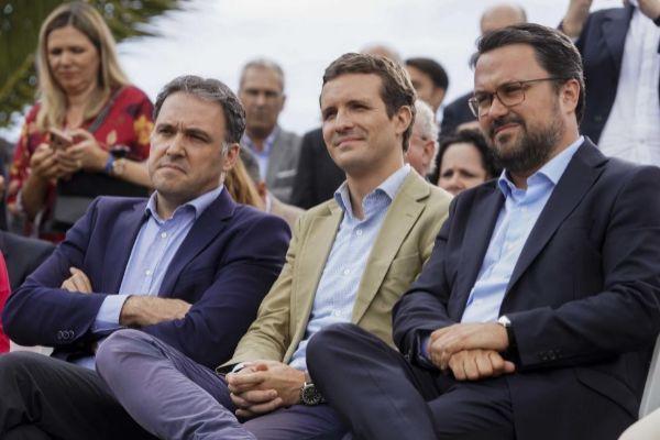 Pablo Casado, este jueves en un acto del PP celebrado en Gran Canaria.