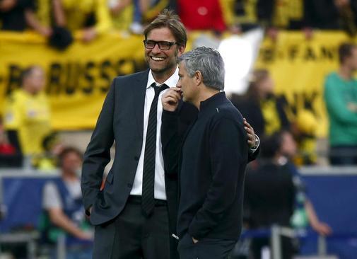 Klopp y Mourinho, en una imagen de archivo.