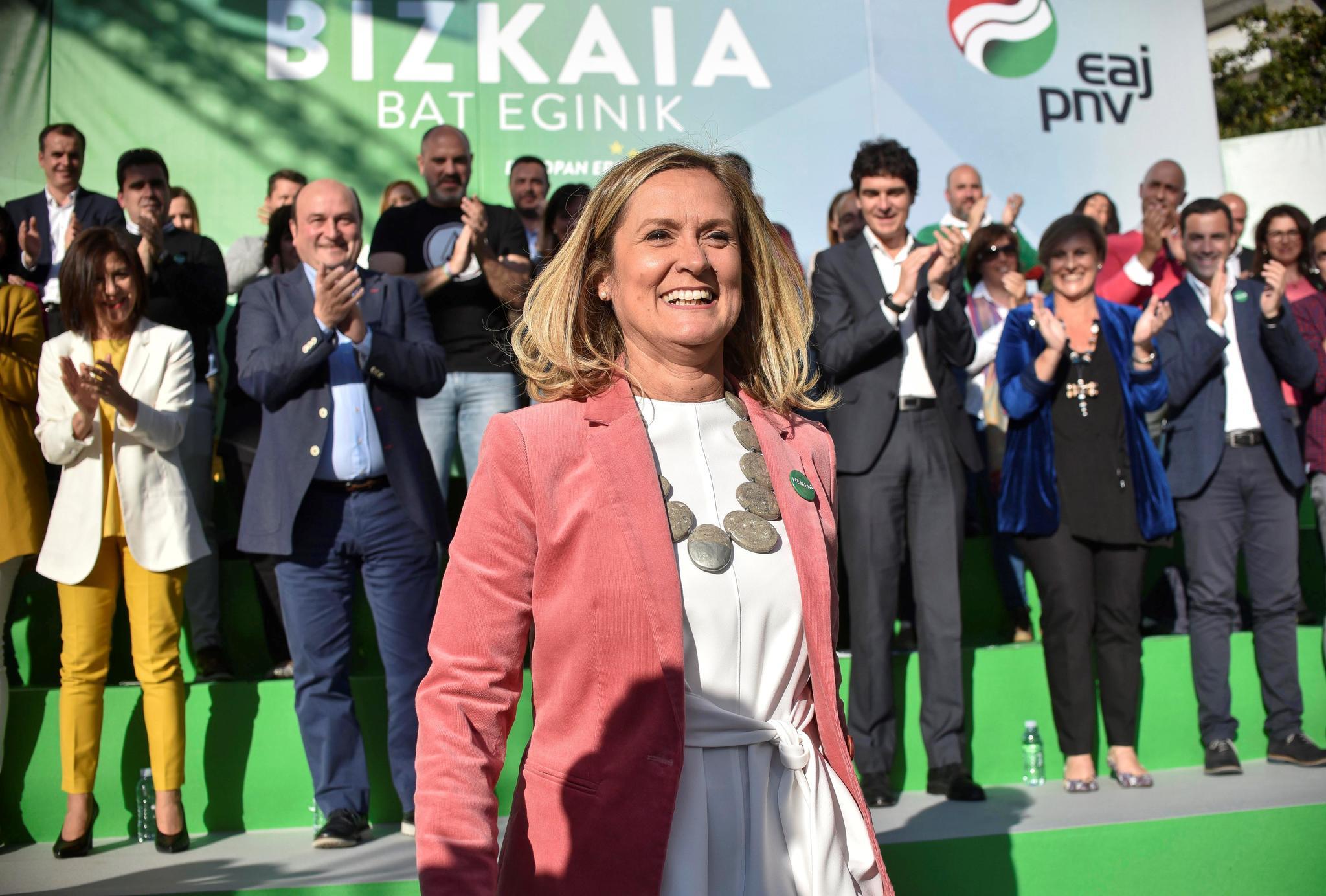 Amaia del Campo en un acto electoral.