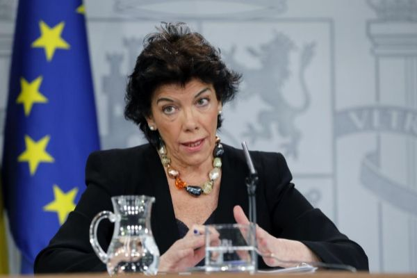 La ministra portavoz del Gobierno en funciones, Isabel Celaá, en la rueda de prensa tras el Consejo de Ministros.