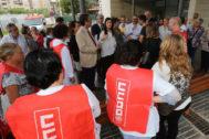 Los sindicatos se opusieron desde el primer momento a los planes laborales de la Conselleria de Sanidad.
