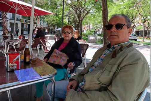 Manuel Roig y Blanca Escriche,en Copacabana café.