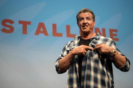 Sylvester Stallone en la clase magistral ofrecida en Cannes el viernes.