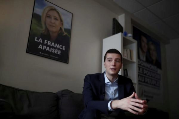 <HIT>Jordan</HIT> Bardella, the head of the French far-right...