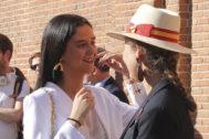 Victoria Federica junto a su madre, la Infanta Elena, en Las Ventas el día de San Isidro