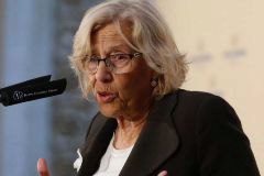 La alcaldesa de la capital, Manuela Carmena.