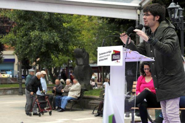 Acto de fin de campaña de Podemos.