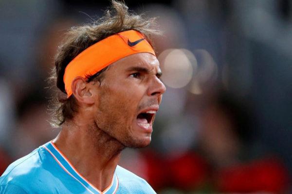 Rafa Nadal, durante el pasado Madrid Masters 1000.