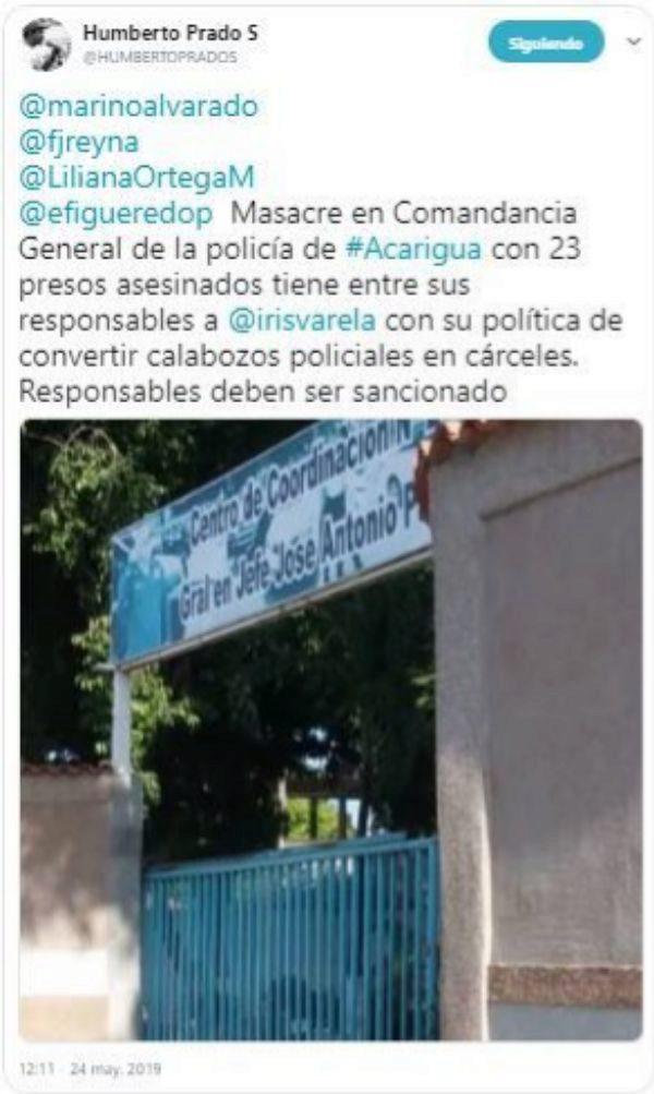 Nueva masacre en una comisaría venezolana: al menos 29 muertos y 15 heridos durante un motín