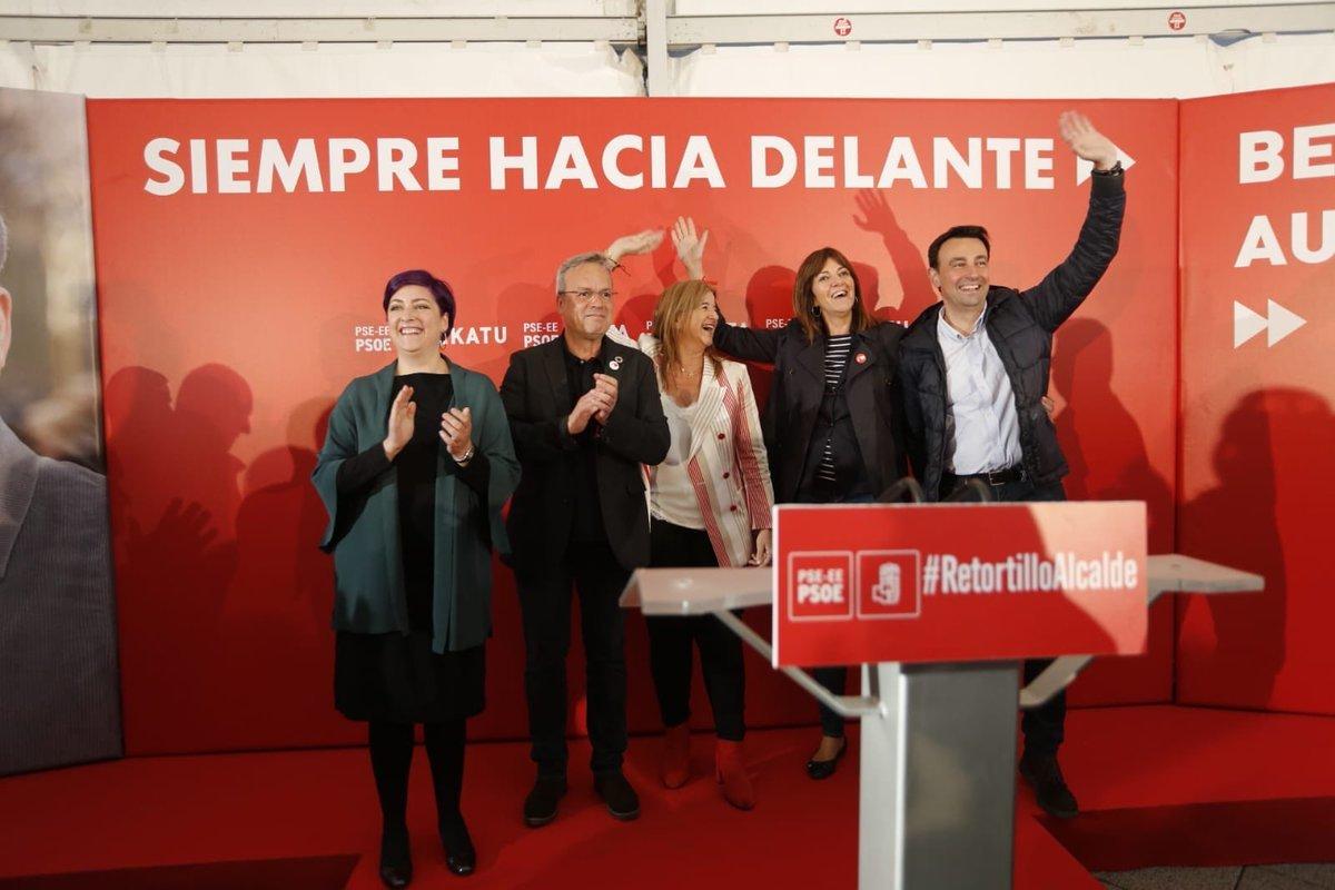 Acto de cierre de campaña de los socialistas vascos.