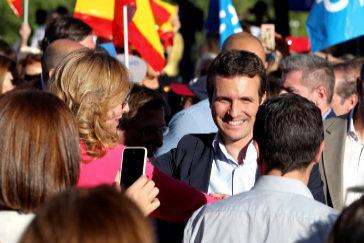 Pablo Casado, en el acto de cierre de campaña celebrado en Madrid.