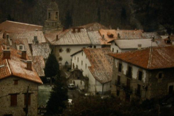 Imagen del pueblo guipuzcoano Leintz-Gatzaga.