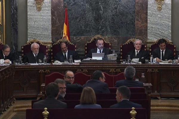 El tribunal encargado de juzgar el 1-O, presidido por Manuel Marchena.