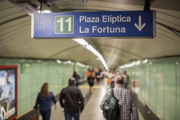 Estación de Metro de Plaza Elíptica.