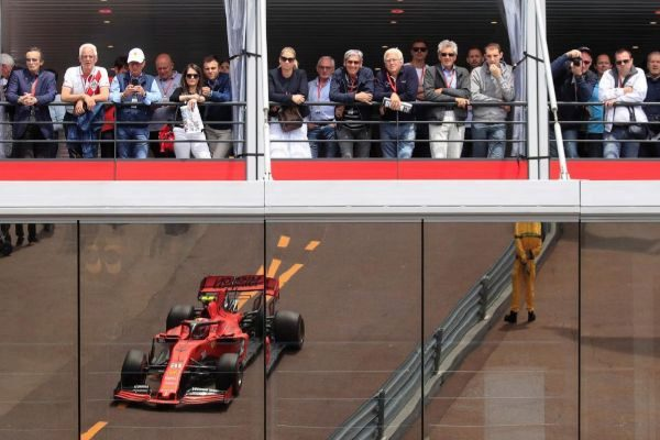 Leclerc, durante la clasificación del sábado en Mónaco.