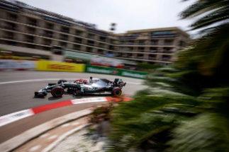 Hamilton, en Loews, durante la clasificación del GP de Mónaco.