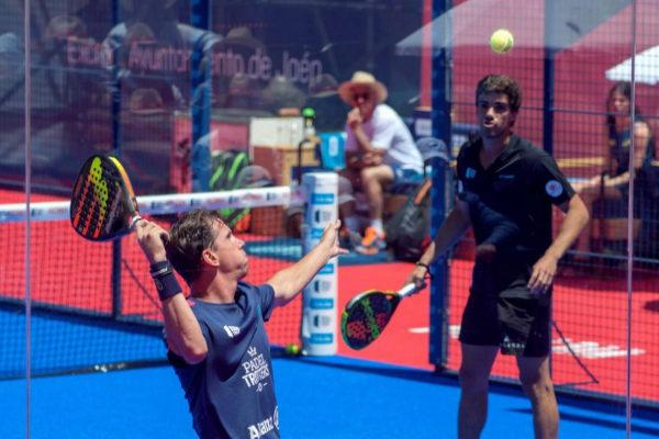 Paquito Navarro y Juan Lebrón, durante la semifinal de Jaén.
