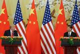 Donald Trump, presidente de EEUU, y su homólogo chino, Xi Jinping, en una rueda de prensa en el Gran Palacio del Pueblo en Pekín, en noviembre de 2017.