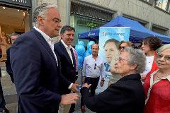 Esteban González Pons en un acto de campaña.
