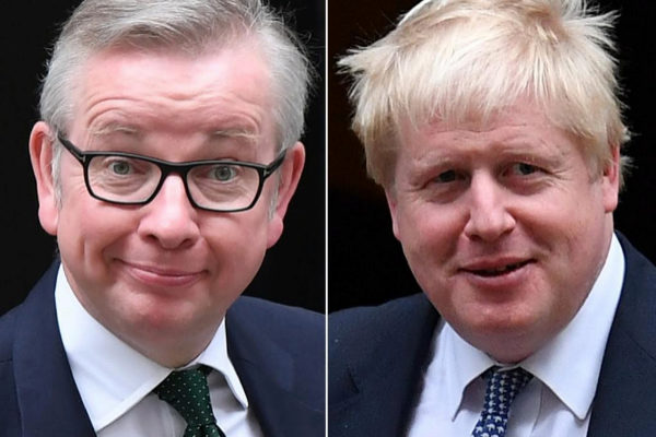 Michael Gove y Boris Johnson.