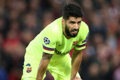 Soccer Football - Champions League Semi Final Second Leg - Liverpool v FC Barcelona - Anfield, Liverpool, Britain - May 7, 2019 Barcelona's <HIT>Luis</HIT> <HIT>Suarez</HIT> during the match Action Images via Reuters/Carl Recine