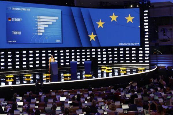Primeras proyecciones de los resultados de Alemania en el Parlamento Europeo.